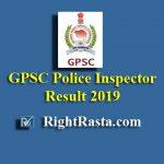 Gujarat GPSC Police Inspector Result 2019