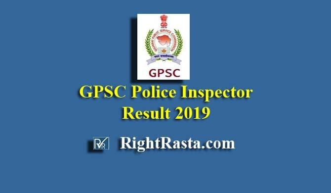 Gujarat GPSC Police Inspector Result