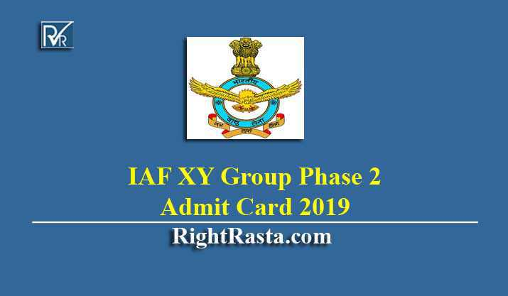 IAF XY Group Phase 2 Admit Card