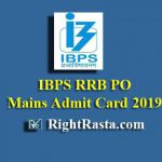 IBPS RRB PO (Officer Scale I) Mains Admit Card 2019
