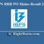 IBPS RRB PO Mains Result | Scorecard-Marks Out