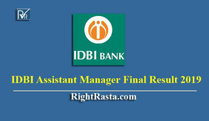 IDBI Assistant Manager Final Result