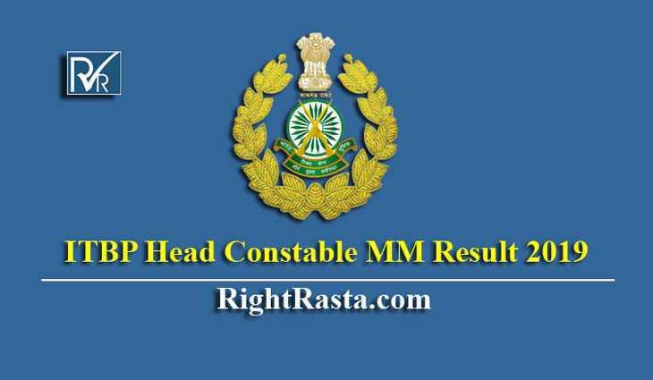 ITBP Head Constable MM Result