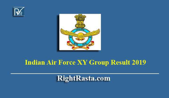Indian Air Force XY Group Result