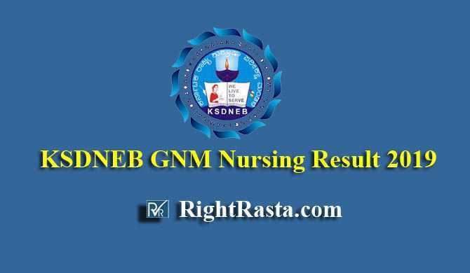 KSDNEB GNM Nursing Result