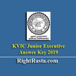 KVIC Junior Executive Answer Key 2019