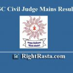 MPSC Civil Judge Mains Result 2019