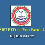 MSBU BED 1st Year Result 2019