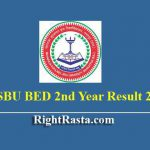 MSBU BED 2nd Year Result 2019