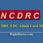 NCDRC LDC Skill Test Admit Card 2019 - Download NCDRC Group C Typing Test Hall Tickets