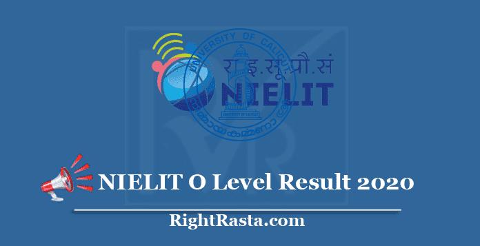 NIELIT O Level Result 2020