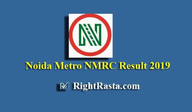 Noida Metro NMRC Result