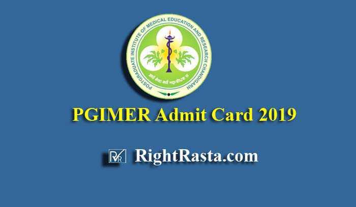 PGIMER Admit Card 2019