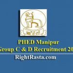 PHED Manipur Group C & D Recruitment 2019 (LDC, Driver, Fitter, Sweeper, Peon, Engine Operator Jr. Supervisor Posts)