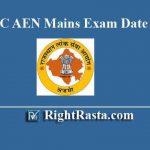 RPSC AEN Mains Exam Date 2019