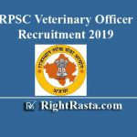 RPSC Veterinary Officer Recruitment 2019