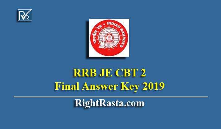RRB JE CBT 2 Final Answer Key