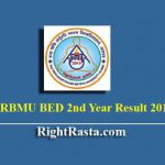 RRBMU BED 2nd Year Result 2019