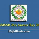 RSMSSB JSA Answer Key 2019