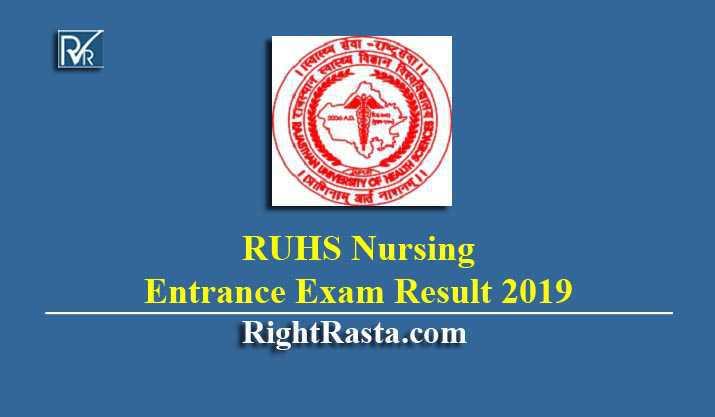 RUHS Nursing Entrance Exam Result