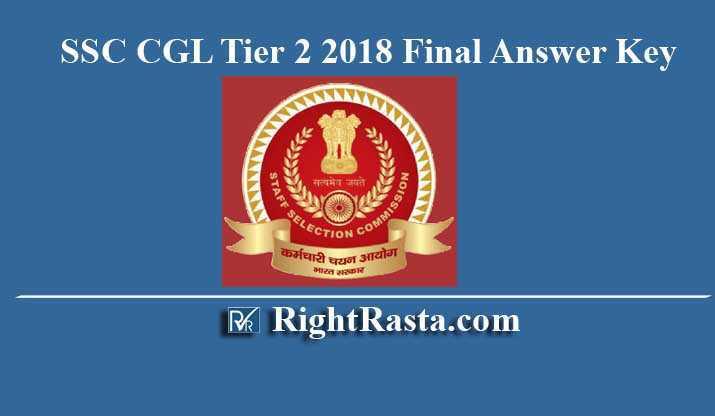 SSC CGL Tier 2 2018 Final Answer Key