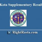 UOK Kota Supplementary Result 2019