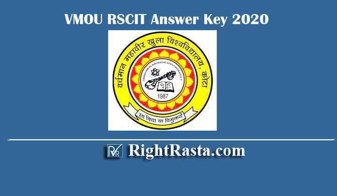 VMOU RSCIT Answer Key 2020
