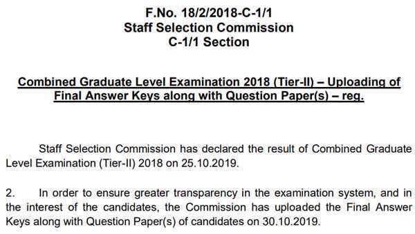 cgl 2018 final key notice