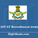 Indian Airforce AFCAT Recruitment Online Form 2020 - Apply Online