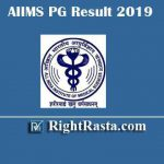 AIIMS PG Result 2019 | Check AIIMS MDS Entrance Exam Results