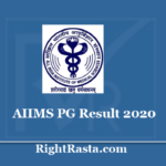 AIIMS PG Result 2020 - Download July Entrance Exam Results