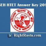 BSEH HTET Answer Key 2019