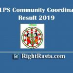 BRLPS Community Coordinator Result 2019