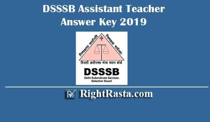DSSSB Assistant Teacher Answer Key