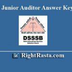 DSSSB Junior Auditor Answer Key 2019