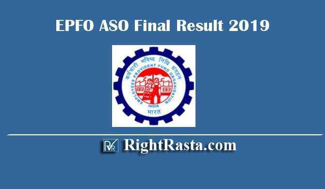 EPFO ASO Final Result 2019
