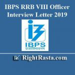 IBPS RRB VIII Officer Interview Letter 2019