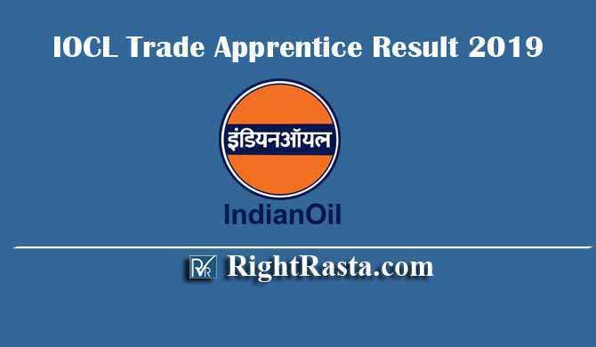 IOCL Indian Oil Trade Apprentice Result 2019