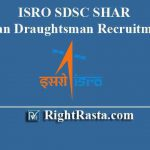 ISRO SDSC SHAR Technician Draughtsman Recruitment 2019