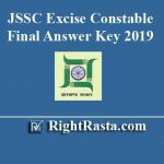 JSSC Excise Constable Final Answer Key 2019