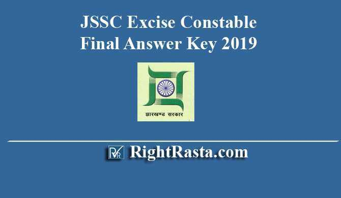 JSSC Excise Constable Final Answer Key