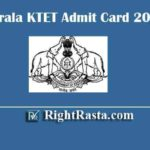Kerala KTET Admit Card 2020 | Download Kerala Teachers Eligibility Test K-TET Hall Tickets