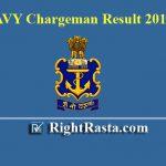 Navy Chargeman Result 2019
