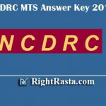 NCDRC MTS Answer Key 2019