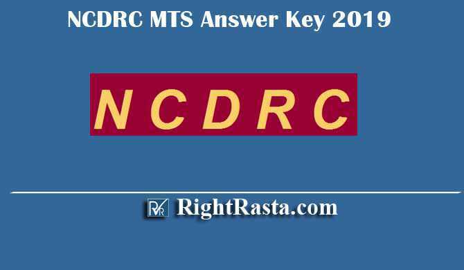 NCDRC MTS Answer Key 2019