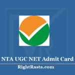 NTA UGC NET Admit Card 2020 (Out) - Download National Eligibility Test Hall Ticket