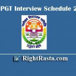 NVS PGT Interview Schedule 2019