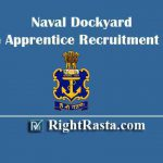 Naval Dockyard Trade Apprentice Recruitment 2019-20