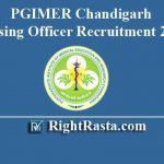 PGIMER Chandigarh Nursing Officer Recruitment 2019