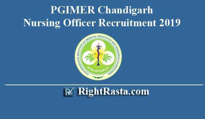 PGIMER Chandigarh Nursing Officer Recruitment